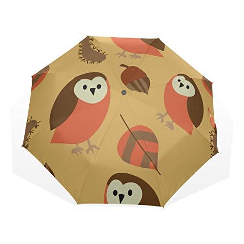 Folding Beach Umbrella Cute Caterpillars And Animals 3 Fold Art Umbrellas(outside Printing) Umbrella Sun Protection Compact Bike Rain Umbrella Best Travel Umbrella Light