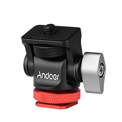 Andoer Telecamera Monitor Mount Mini Ballhead Vite da 1/4 di pollice