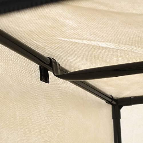 vidaXL 2X Kleiderschrank mit Reißverschlüssen Faltschrank Stoffschrank Campingschrank Garderobe Schrank Regal Garderobenschrank Creme 75x50x160cm
