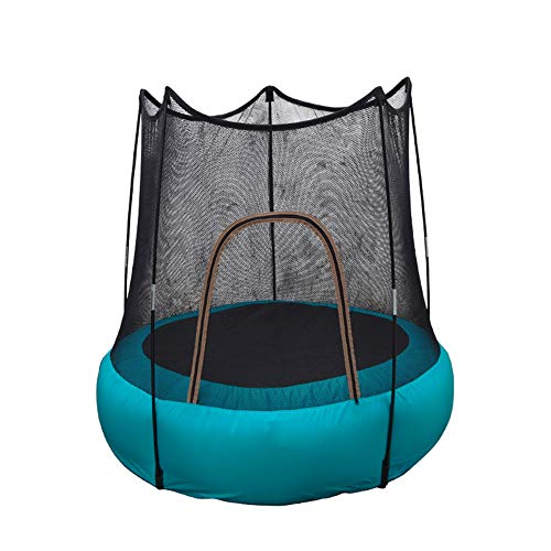 Lzww Children Trampoline, Mini Safe Jumping Bed in Mini Garden with Protective Net for Christmas Birthday Present