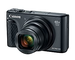Canon PowerShot SX740 Digital Camera w/40x Optical Zoom and 3 Inch Tilt LCD - 4K Video, Wi-Fi, NFC, Bluetooth Enabled (Black
