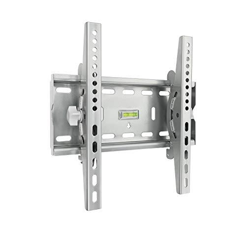 TooQ LP4537T-B, Soporte Fijo Inclinable de Pared para Monitor/TV/LED de 32' a 55, plata