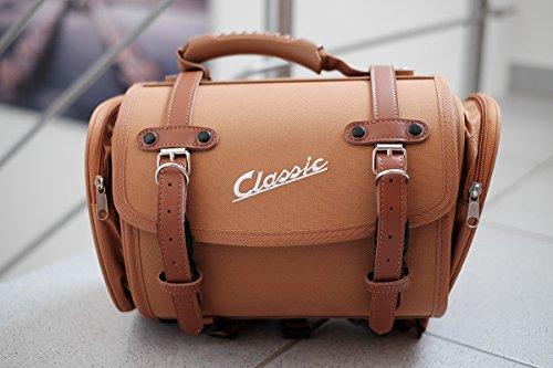 SIP 330x190x180mm ca. 10 Liter Tasche/Koffer petit, Nylon, braun kompatibel für Gepäckträger