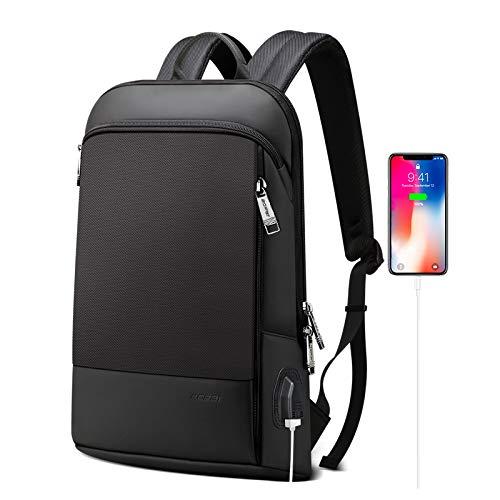 BOPAI Slim Laptop Backpack 15 inch USB Charging Backpack for Men Water Resistant College Laptop...