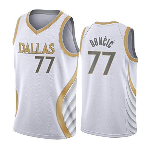 ZRHZB Dallas Mavericks #77 Luka Doncic Unisex Camiseta De Baloncesto De Los Hombres Transpirable All-Star Jersey(Tamaño: S-XXL),A,XL