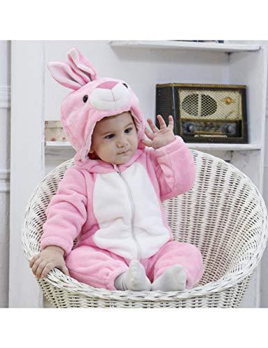 GBYAY Disfraz de Conejo de Conejo Blanco para bebé, Mamelucos de Animales de Dibujos Animados, Mono de niño pequeño, Disfraz de Halloween