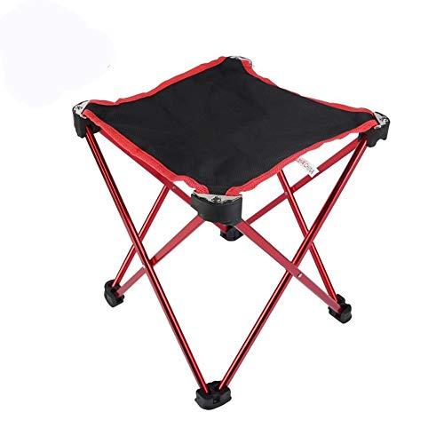 Klappstuhl Luftfahrt-Aluminium Outdoor-Camping-beweglicher faltender Stuhl/Klappstuhl/Klein Mazar/Klappstuhl Camping Angeln Outdoor-Aktivitäten, Camping, Picknick (Color : Gun Color)