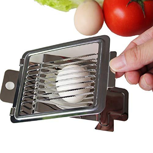 Mehrzweck-Edelstahldraht Eierschneider Eierschneider Käse Zerhacker Schneidwerkzeug zum Schneiden von Küchenschneidegeräte Kochwerkzeuge 2 Stück)
