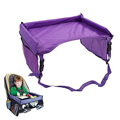 1 pieza portátil plegable asiento de coche escritorio niño bandeja de viaje mesa de viaje arte de viaje bandeja de juegos para niños pequeños actividades en asiento de coche