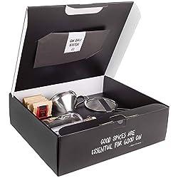 Just Spices Gin Set | Gin zum Selbermachen - 15 Hochwertige Botanicals und Gewürze + Anleitung | Geschenkset für Männer und Frauen | Gin Tonic Baukasten Kit