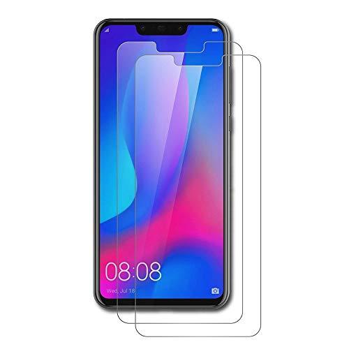 AICEK 2 Pack Huawei P Smart Plus Pellicola Protettiva, Huawei P Smart Plus Screen Protector Toccare Pellicola Protettiva in Vetro temperato per Huawei P Smart + Vetro Trasparenza