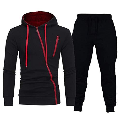 None/Brand Herren Marke Trainingsanzug Casual Hoodies und Jogginghosen Set für männliche Sportbekleidung Zweiteilige Sets Sweatshirt + Hosen Outfit Herrenbekleidung