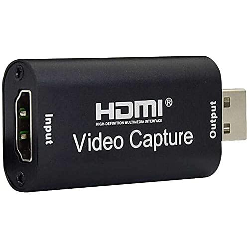 Yuyanshop Mini tarjeta de captura de vídeo, tarjeta de captura de juegos HDMI USB Video Grabber caja de grabación para PS4 juego DVD videocámara HD grabación en vivo