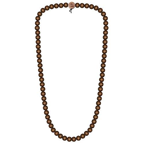 WOOD FELLAS Unisex Deluxe Holz-Perlenkette Brown 9mm