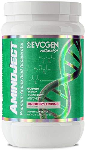 Evogen AminoJect Naturals I 30 Portionen I Aminosäuren I BCAA I Glutamin I Betain I Recovery I Ausdauer I Ohne künstliche Süß- und Aromastoffe (Rasberry Lemonade)