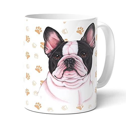 Taza con diseño de Bulldog francés con texto en inglés 'For Dich/Divertido Texto/Taza de Navidad/Personalizada/Taza de café grande