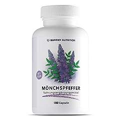 180 capsules en 6 mois - produit naturel à haute dose avec 10 mg d'extrait de poivre de moine 4:1 - Agnus Castus - vegan - fabriqué en Allemagne.