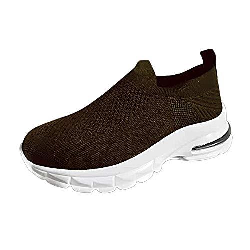 Zapatillas Deporte Mujer de Vestir Baratos Casual Cuña en Oferta Fashion Ligeras para Andar Running sin Cordones con Cojines Primavera Verano Otoño