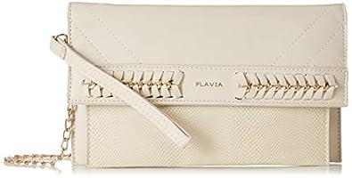 Flavia Women's Clutch (Cream)