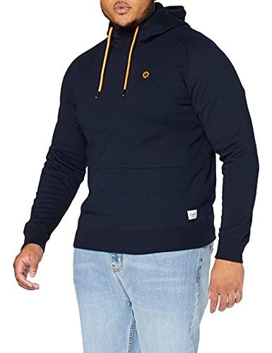 JACK & JONES JCOPINN SWEAT HOOD NOOS, Sweat-Shirt À Capuche Homme, Bleu (Navy Blazer), X-Large
