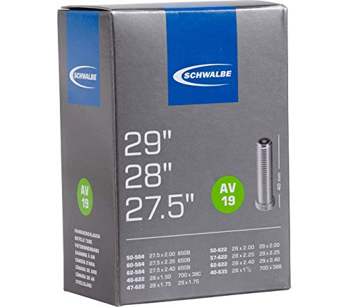 """Schwalbe_1 Fahrrad Schlauch AV19 40/62-584/635 40 mm MTB 29"""" Autoventil"""