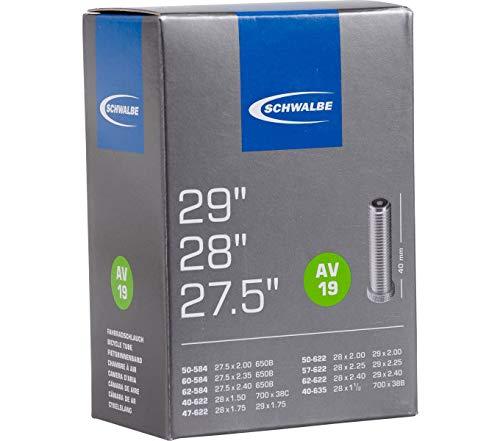 """Schwalbe_1 Fahrrad Schlauch AV19 40/62-584/635 40 mm MTB 29\"""" Autoventil"""