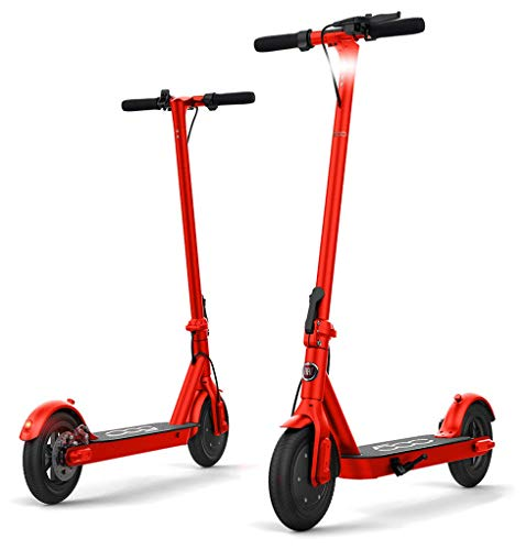 """Fiat F500-F10 Electric Scooter 10"""" RED, 36V 350W Powerful Motor, Easy fold, Long Range Battery, Double Safety Breaking System"""