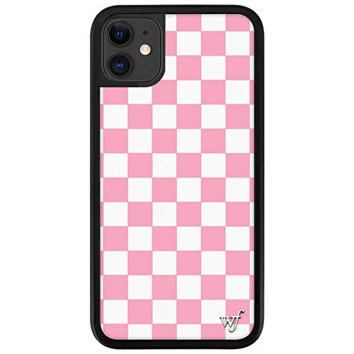 Wildflower Limited Edition Cases Compatible with iPhone 11 (Pink Checkers)
