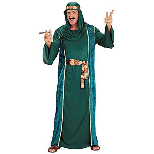 Widmann 10191 10191-Kostüm Arabischer Scheich, Grün, Robe, lange Weste, Gürtel und Kopftuch, Sultan, Araber, für Karneval, Mottoparty, Herren, S