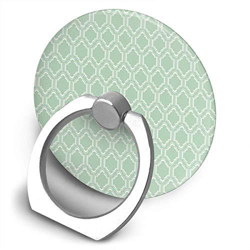 ARRISLIFE Chic Mint Moroccan Soporte para teléfono,Round-Shaped Soporte para Anillo de teléfono Celular,360 Degrees Rotating Soporte de Metal