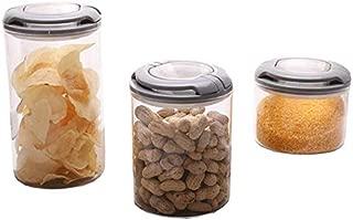 ZHAS Kitchen Glass Food Grain Wheat Flour Storage Box, Large Food Storage Tank/Multi-Grain Jar, with Lid, for Kitchen Sideboard Organization and Storage (Size : 8x8x8cm)