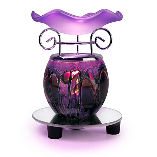 small 1 X Electric Purple Tie Dye Oil Heater with Mirror Base