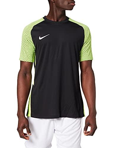 Nike Dri-Fit Strike II, Maglia Manica Corta Uomo, Nero/Volt/Bianco, XL