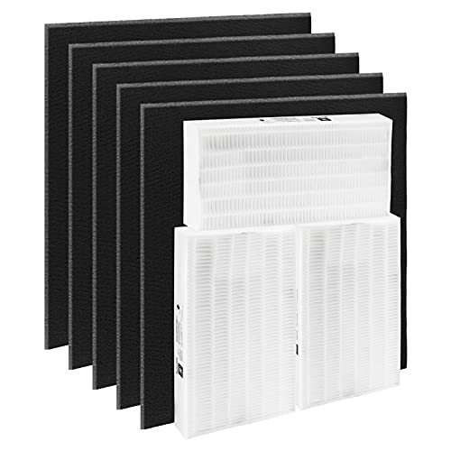 Blutoget HPA300 Air Purifier Filters -Compatible with Honeywell Air Purifier HPA 300,Part HRF-R3, HRF-R2, HRF-R1, HRF-AP1(Pack of 3 x Hepa Filters + 6 x Carbon Filters)
