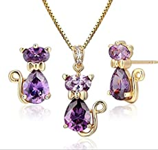 For girls kids child babies children teenager and women beauty accessories Swarovski elements gold plated necklace and earrings birthday gift fit all dress party new fashion 2019