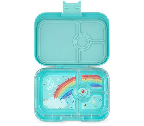 Yumbox Panino Lunchbox (Misty Aqua) - Brotdose mit 4 Fächern | Vesperdose für Kindergarten Kinder, Schule, Erwachsene | auslaufsicher und untereinander dichte Fächer