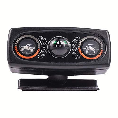 Jinclonder Auto-geleidingsbal decoratieve weegschaal waterpas hellingsmeter terreinwagen auto universele auto instelbare kompas compensatie hellingsmeter meer dan 40 graden