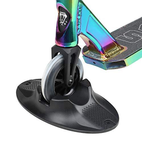 VOKUL - Soporte para patinete con base extra estable – apto para patinetes profesionales, patinetes trucos, patinetes y la mayoría de los principales scooters con ruedas de 90 mm a 120 mm, Negro