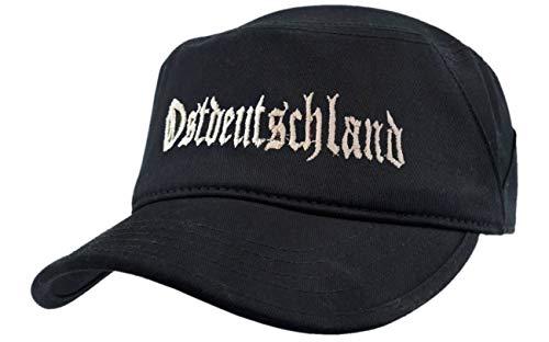 Spaß kostet Feldmütze schwarz Ostdeutschland VERSTELLBAR Logo auf Basecap gestickt