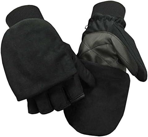 Northstar Unisex Waterproof Thinsulate Flip Top Convertible Gloves Black 503BK product image
