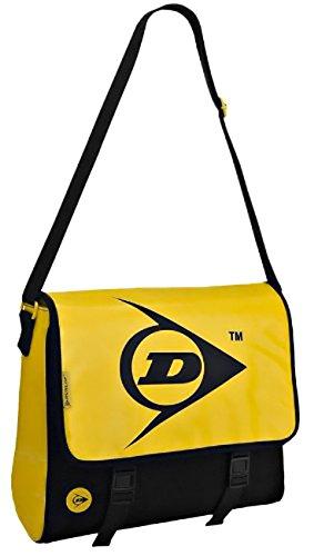 Dunlop Canvas Messenger Bag, Yellow and Black
