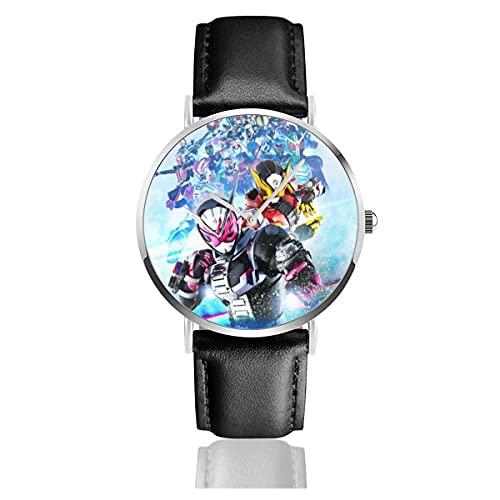 Relojes de Pulsera Kamen-Rider-Cool Reloj de Cuarzo con Correa de Cuero de PU para Hombre Mujer colección Regalo Unisex Informal de Negocios