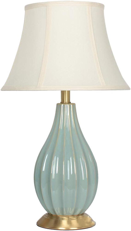 Amter Keramik-Lampe, Wohnzimmer-nachttischlampe, Hotelmodelldekorationslampe, Druckknopfschalter, E27, 36 36 36  60cm,A B07MVVGYXV     | Starker Wert  8b8c6c