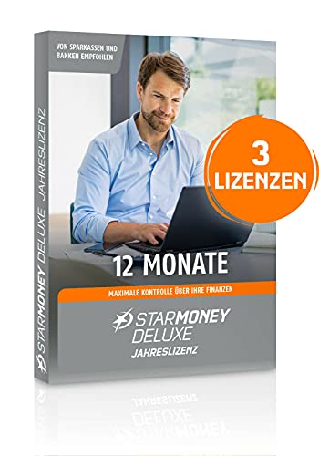 StarMoney 13 Deluxe Jahreslizenz + Premiumsupport Product Keycard ohne Datenträger inkl. Privacy Suite 19