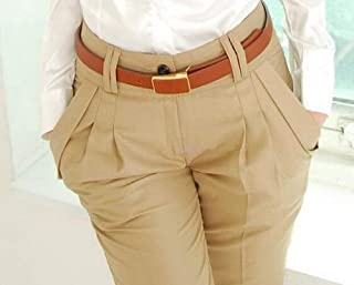 新ファッション春夏秋の女性のパンツハイウエストカジュアルパンツレディースエレガントな Silm プラスサイズのズボンの女性