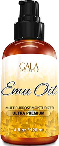 Gala Purity Emu Oil - Large 4oz - Best Natural Oil for Face, Skin, Hair Growth, Stretch Marks, Scars, Nails, Muscle & Joint Pain, and More