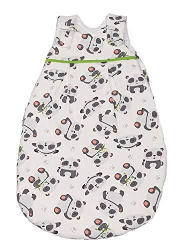 Picosleep Babyschlafsack für Jungen und Mädchen I Panda-Design I Obermaterial und Futter aus weicher Jersey-Baumwolle I angenehmer Tragekomfort (50/56)