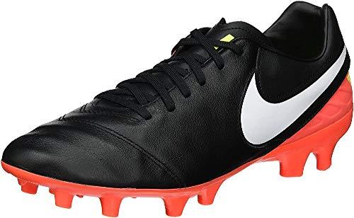 Nike Herren Tiempo Mystic V FG Fußballschuhe, Schwarz (Black/White-Hyper Orange-Volt), 42.5 EU