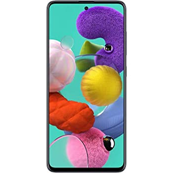 "Samsung Galaxy A51 (128GB, 4GB) 6.5"", 48MP Quad Camera, Dual SIM GSM Unlocked A515F/DS- Global 4G LTE International Model (Black, 64GB SD + Case Bundle)"