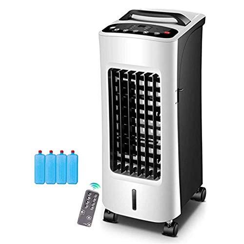 ZHYXJLYL Tragbarer LuftküHler, Heizung Und KüHlung Luftbefeuchtung Leise Mobile Klimaanlage 3 Modi 7,5 Stunden Timing 4l GroßEn Wassertank (62x25x25cm)
